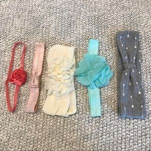Lot of baby headbands - Carter's and Cat & Jack